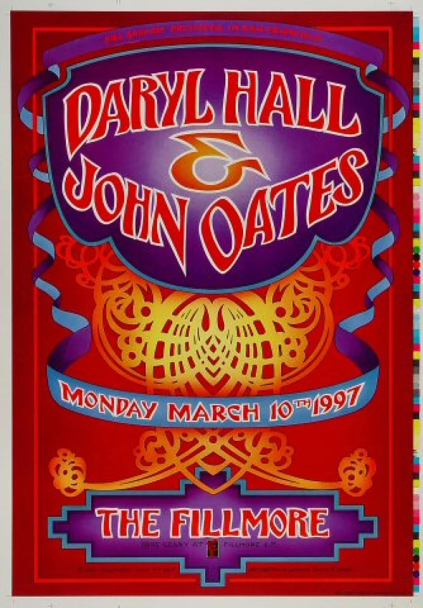 hall oates vintage concert proof from fillmore auditorium mar 10 1997 at wolfgang s