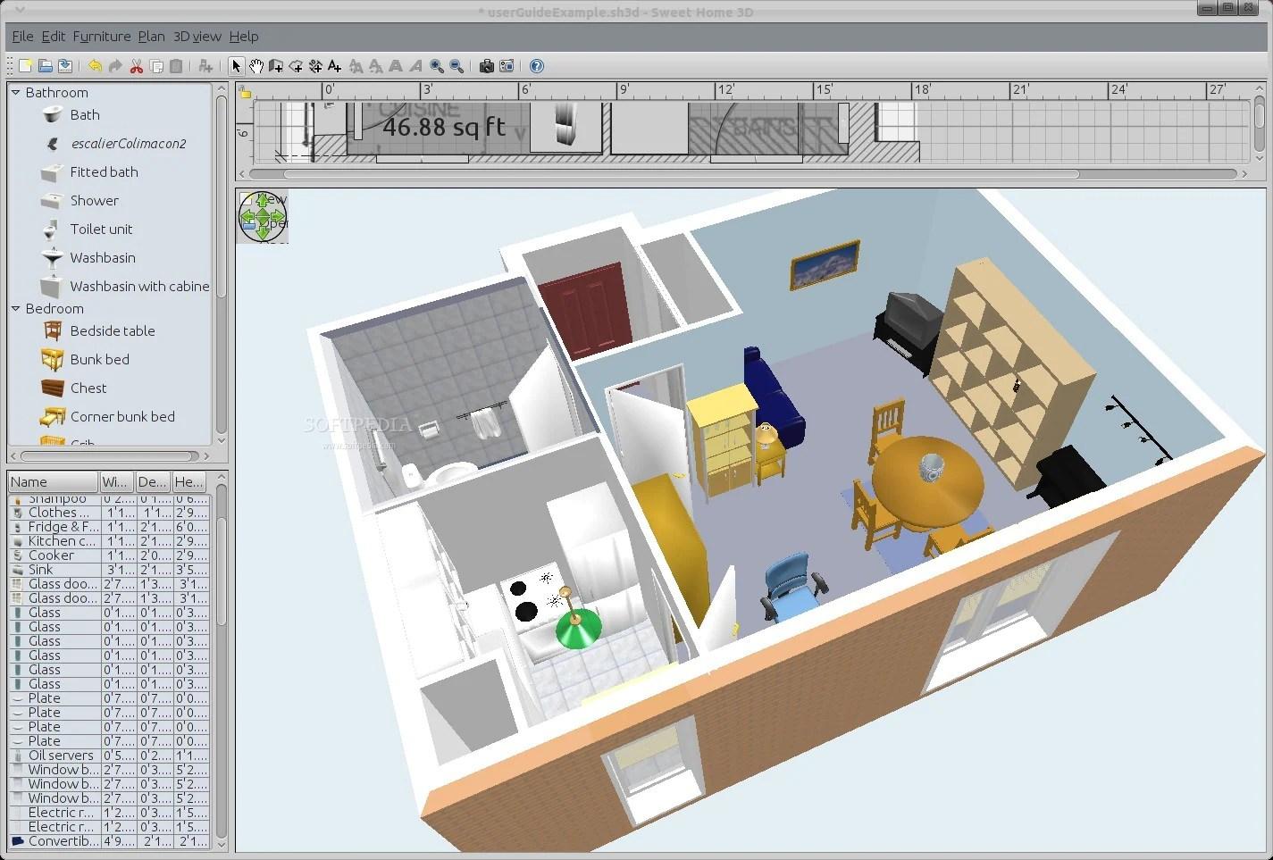 Free home design software for Windows