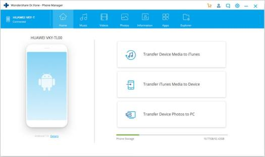 how to transfer files from pc to android-launch Dr.Fone