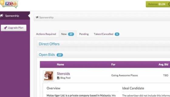 izea  influencer marketing platform