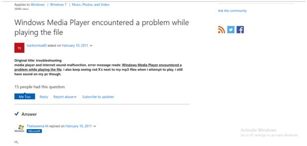 3 Solutions To Windows Media Player Encountered A Problem