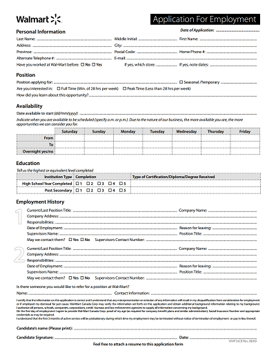 Conveniently make your application letter without breaking a sweat from hundreds of … Wal Mart Application Form Free Download Wondershare Pdfelement