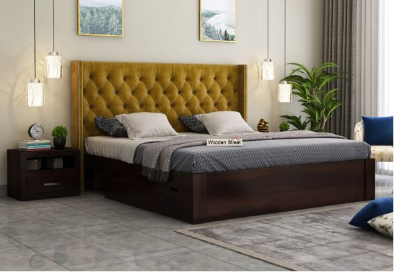 buy fabric upholstered beds online