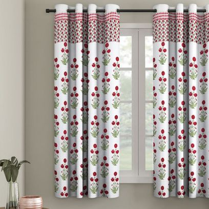 buy cotton window curtains online in india