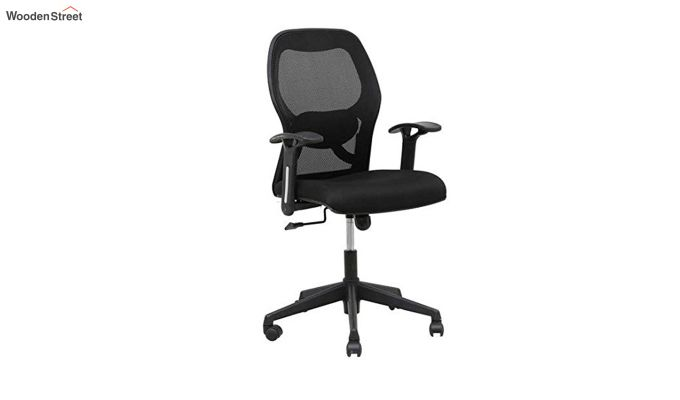 Buy Eric Mid Back Black Ergonomic Office Chair Online In India Wooden Street