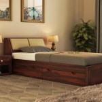 Buy Walken Single Bed With Storage Walnut Finish Online In India Wooden Street