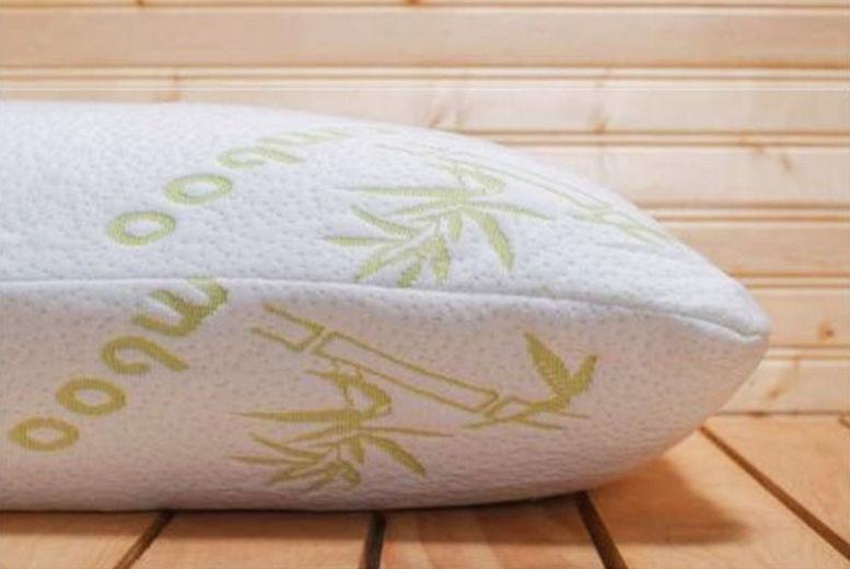 1 or 2 bamboo memory foam pillows