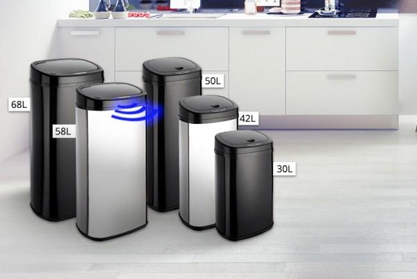Rectangle Sensor Bin - 5 Sizes & 2 Colours! | Shop | Wowcher