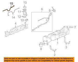 Chevrolet GM OEM 0506 SSR 60LV8 Fuel SystemReturn Line 15015511 | eBay