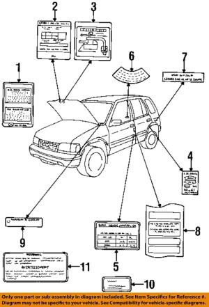 KIA OEM 1997 Sportage LabelsVacuum Diagram 0K01G69A02 | eBay