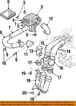 Cadillac GM OEM 9701 Catera 30LV6Exhaust Resonator