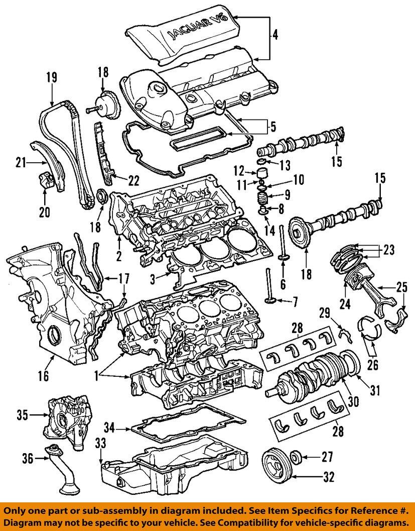 Jaguar oem 02 08 s type engine cylinder head gasket c2s34512 ebay