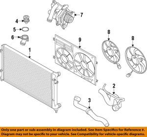VW VOLKSWAGEN OEM 1214 PassatEngine Cooling Fan Motor 1KM959455G 1KM959455G | eBay
