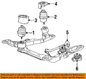 FORD OEM 9395 TaurusEngine Motor Mount Torque Strut F3DZ6038A | eBay