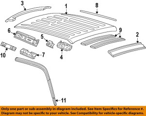 FORD OEM 9902 F250 Super DutyRoof Panel F81Z2650202BA