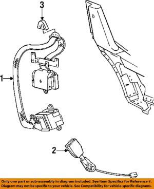 Dodge CHRYSLER OEM 9702 Viper Front SeatBelt & Buckle