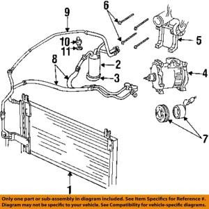 Dodge CHRYSLER OEM 9802 Ram 3500 Air ConditionerLiquid Line 55055834AB