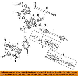 Saturn GM OEM 0207 Vue Rear DifferentialSeal 12569925