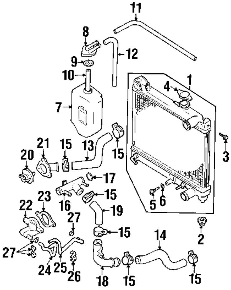Genuine suzuki heater hose retainer suz 0940800182