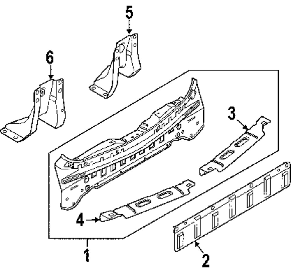 Genuine nissan closing plate reinforcement nis 79133cc40a
