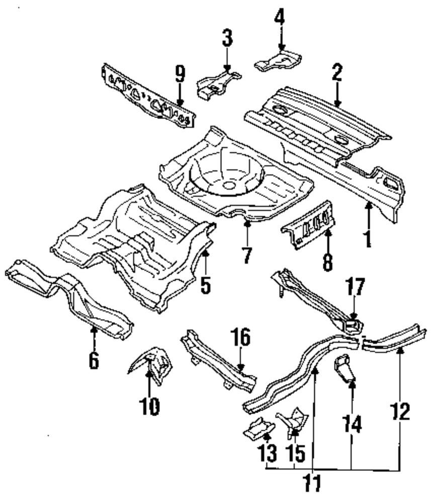 Genuine infiniti bracket inf 7559360u00