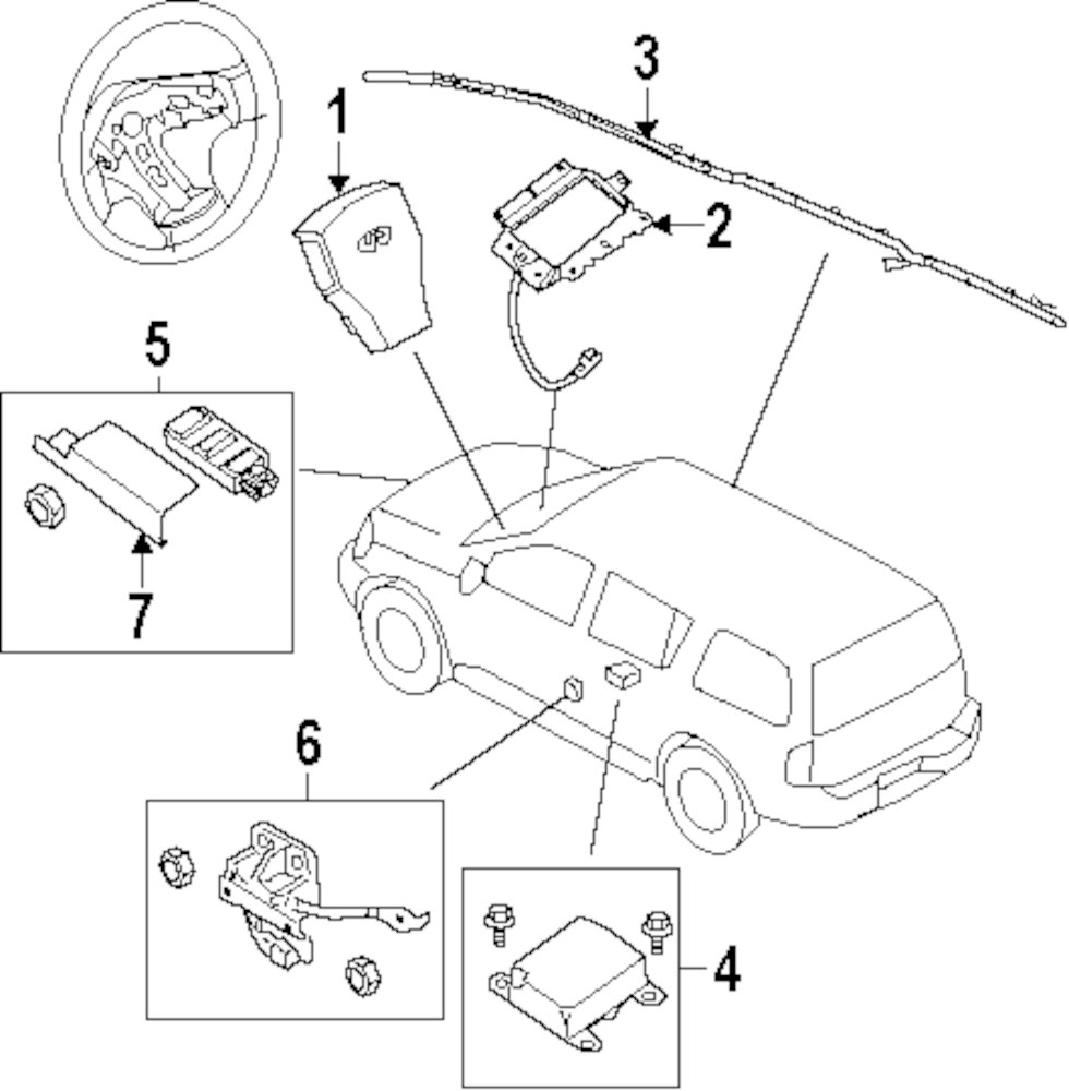 Genuine infiniti driver air bag inf 98510zq08d