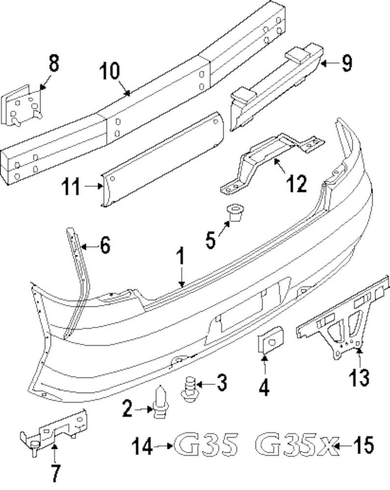 Genuine infiniti bumper bracket inf 85211am611