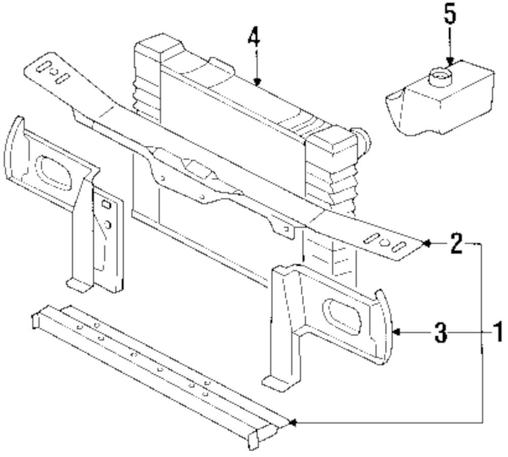 Genuine isuzu radiator isu 8944512841