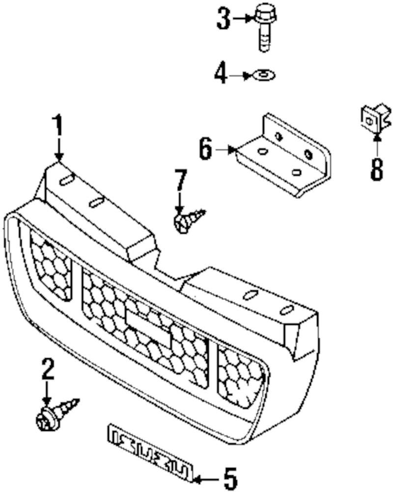 Genuine isuzu recline cover screw isu 0743605160