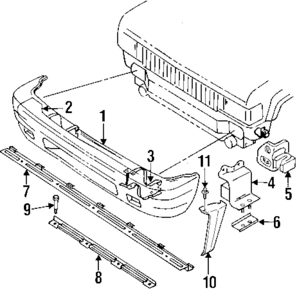 Genuine isuzu reinforcement retainer isu 8978041550
