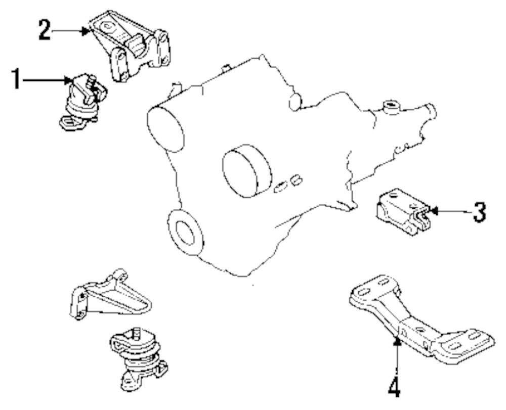 Genuine mazda motor mount bracket maz la0139021