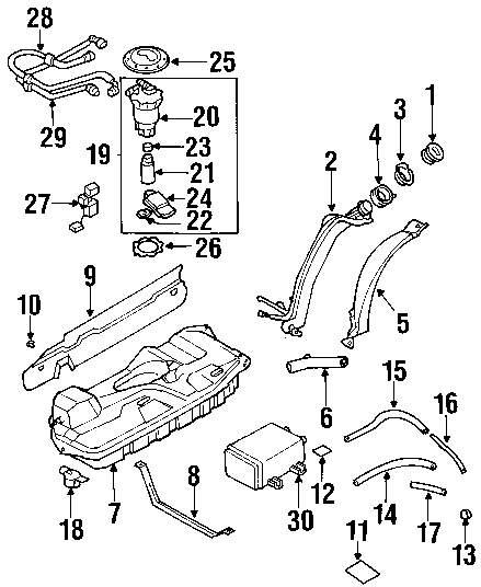 Genuine mazda resonator shield rivet maz b25d56398