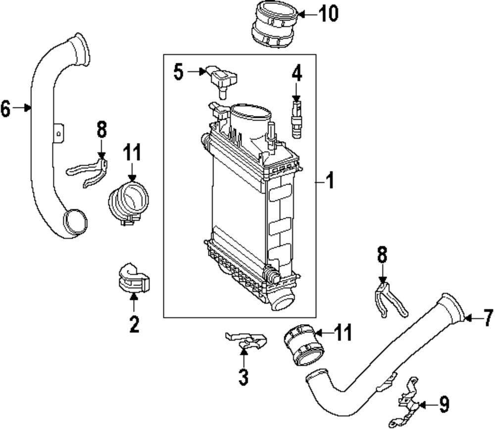 Genuine mercedes benz air duct upper bracket mbz 2760980039