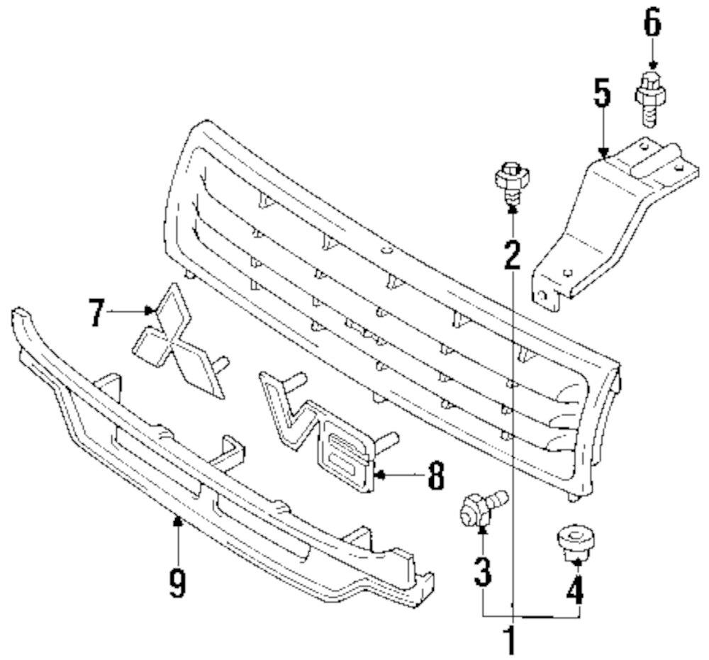 Genuine mitsubishi grille screw mit mf351667