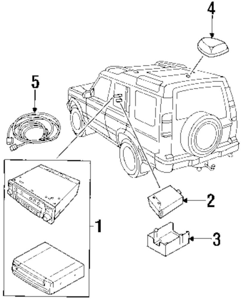 Genuine land rover mount bracket ran ywu000050
