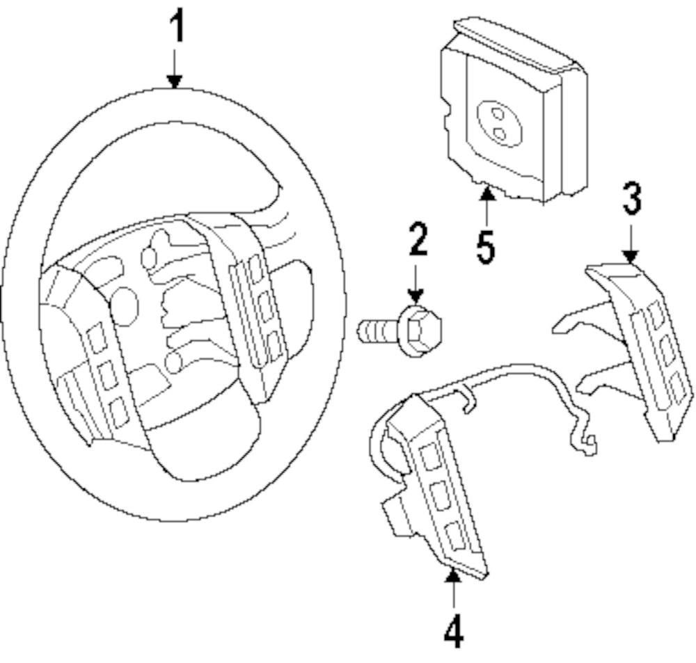 Genuine land rover steering wheel ran lr030682