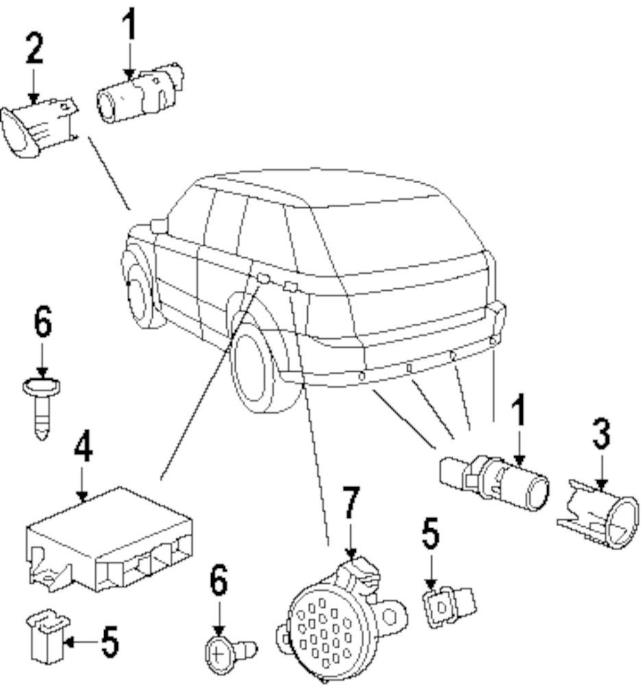 Genuine land rover holder screw ran da608044l