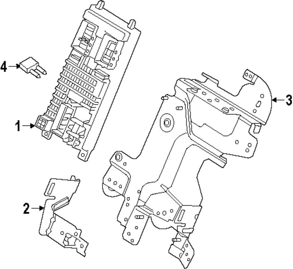 Genuine land rover fuse box ran lr068821