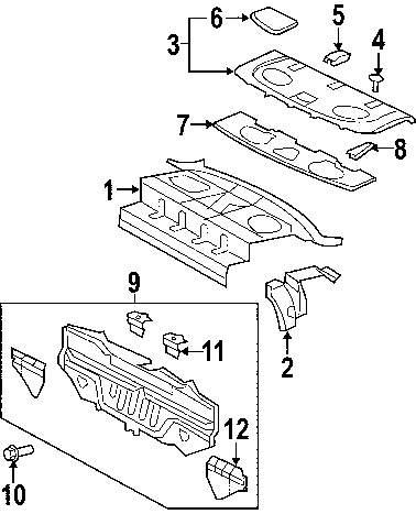 Genuine toyota rear body panel bracket toy 5838652040