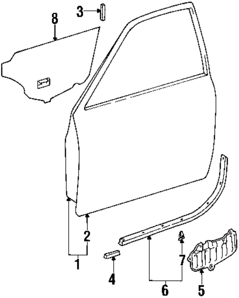 Genuine toyota access cover toy 6783133060