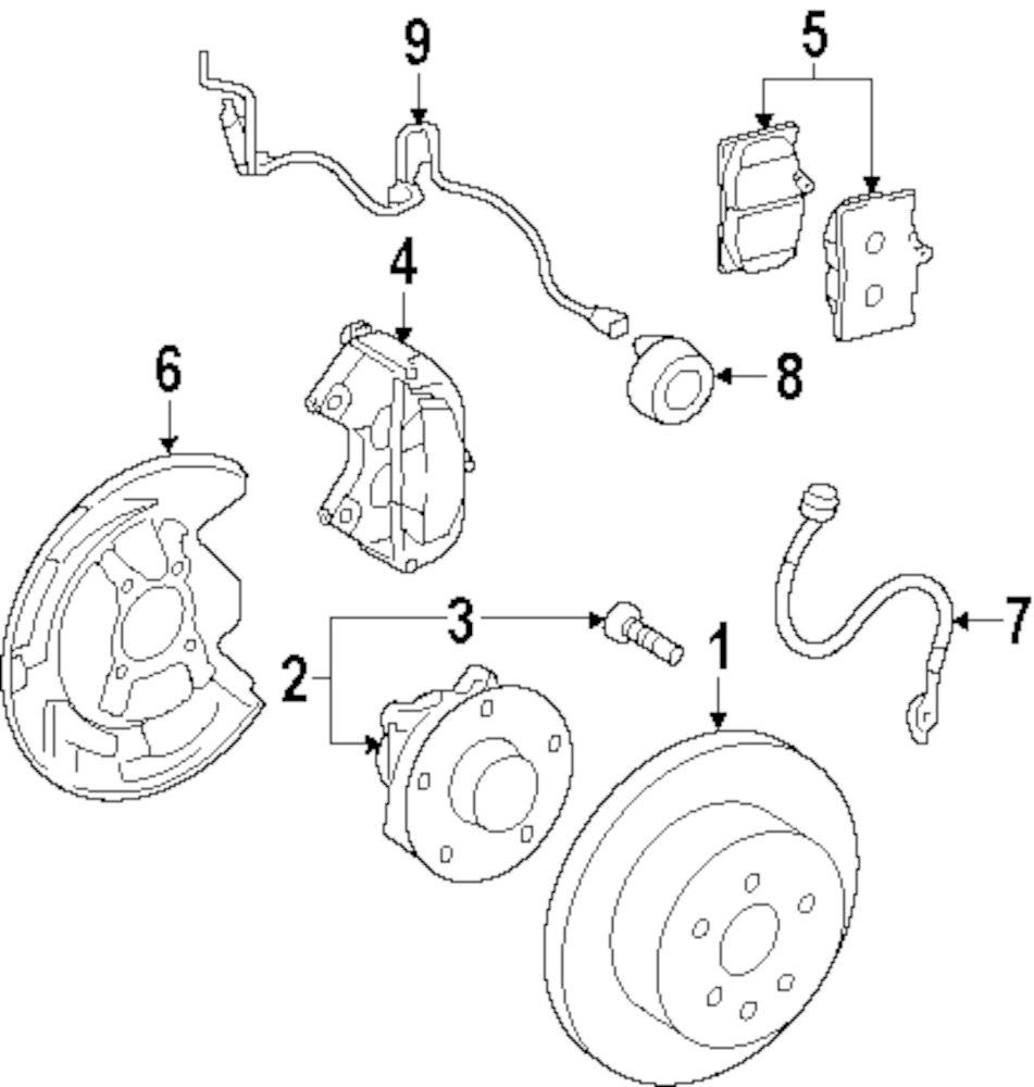Genuine lexus brake pads lex 0446530340