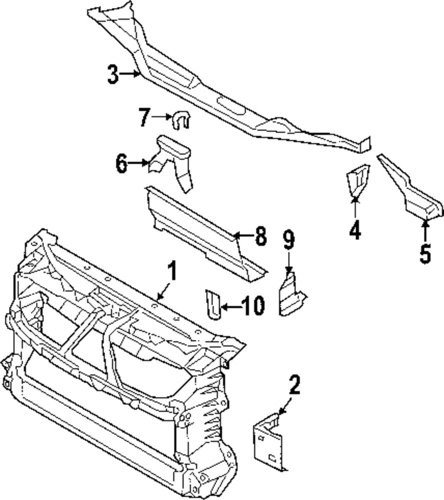 Radiator support mount bracket