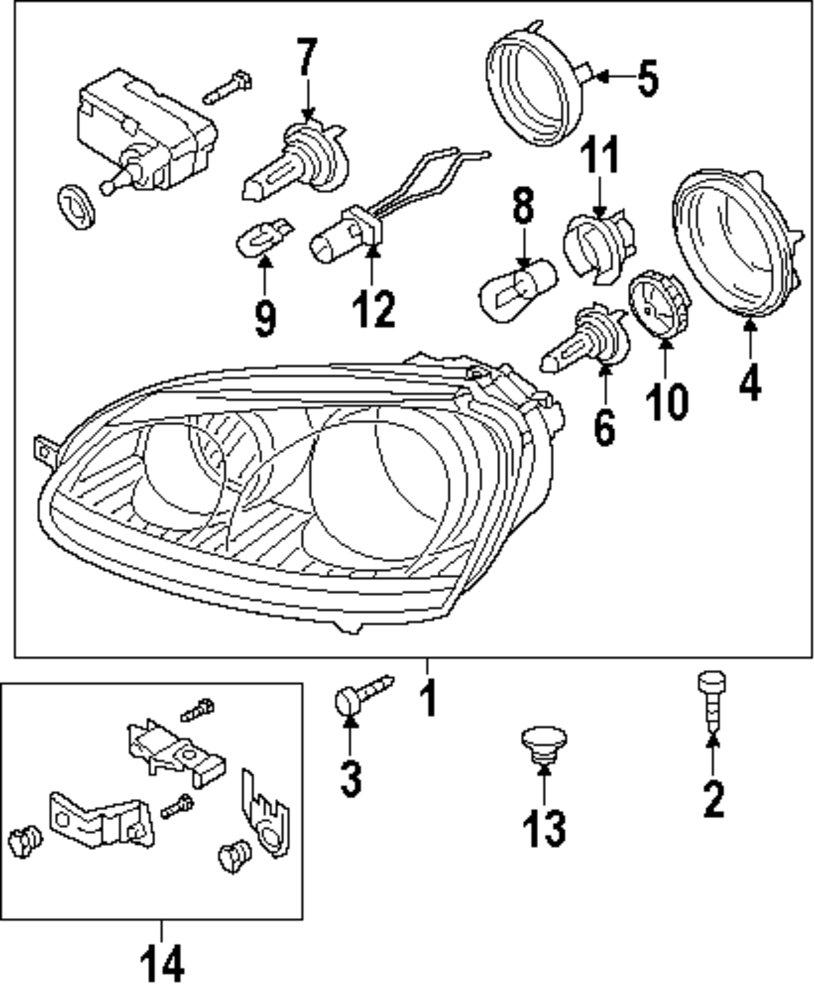 Genuine volkswagen headl assy screw vwg n91063601