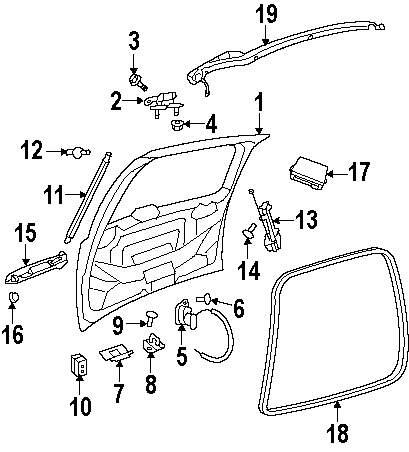 Genuine volkswagen latch screw vwg wht004422