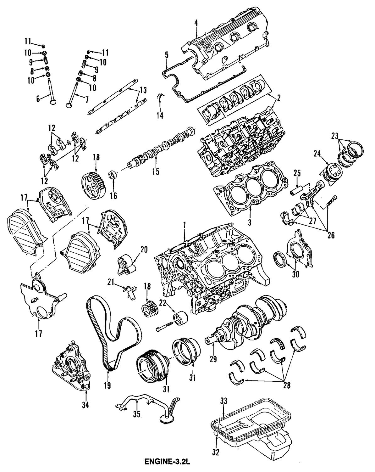 Isuzu Rodeo Camshaft And Timing Parts