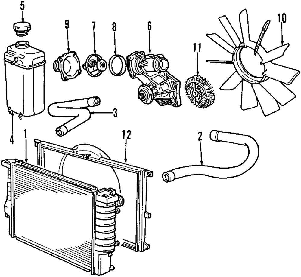 Genuine bmw water pump assy bmw 11510393336