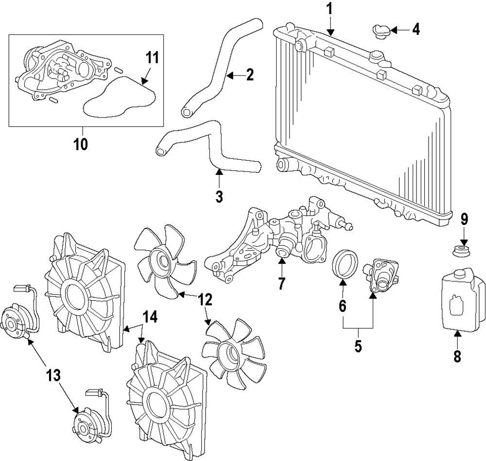 Genuine acura fan shroud acu 190155j6a01
