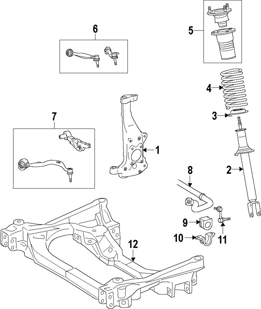 Genuine lexus coil spring lex 4813150260