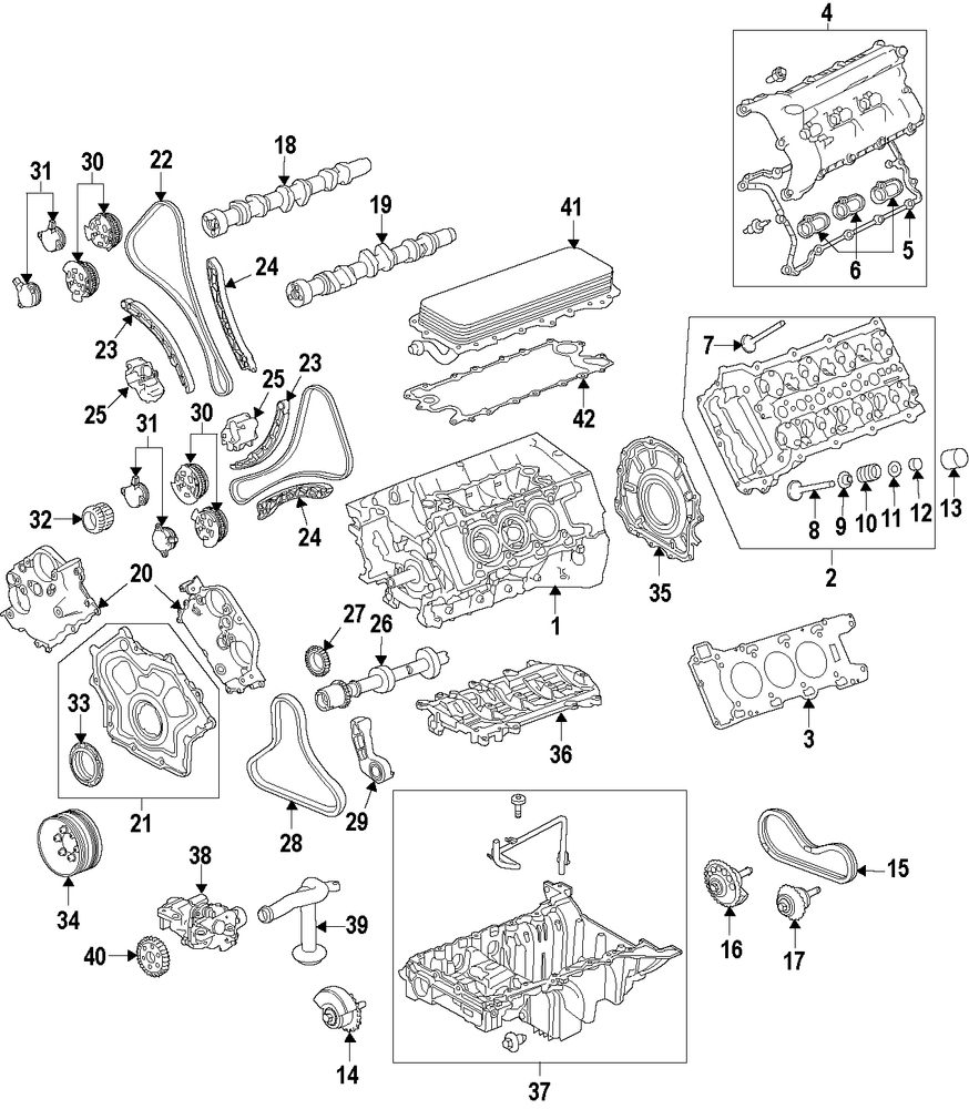 Genuine land rover engine lan lr062623