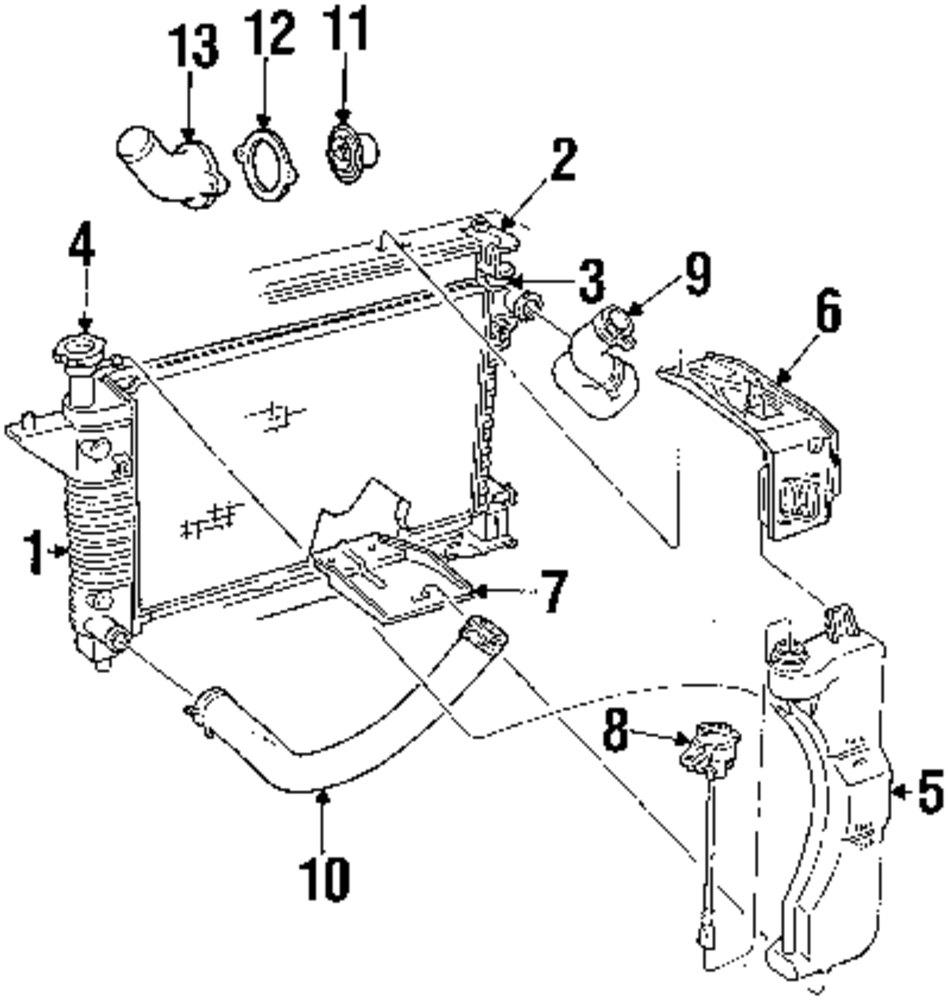 Genuine ford radiator for 1r3z8005da